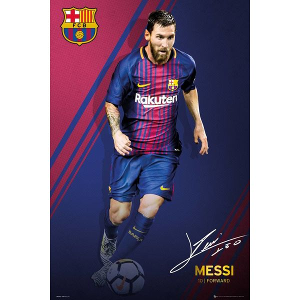 lionel messi 17 18 fc barcelona poster reinders. Black Bedroom Furniture Sets. Home Design Ideas
