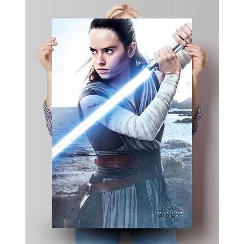 Poster Star Wars the last Jedi Rey Engage