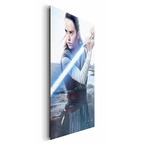 Wandbild Star Wars the last Jedi Rey Engage