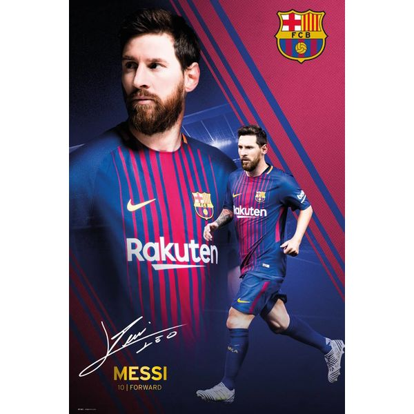 Lionel Messi 17/18 collage FC Barcelona  - Poster 61 x 91.5 cm