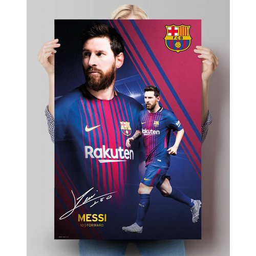 Poster Lionel Messi 17/18 collage
