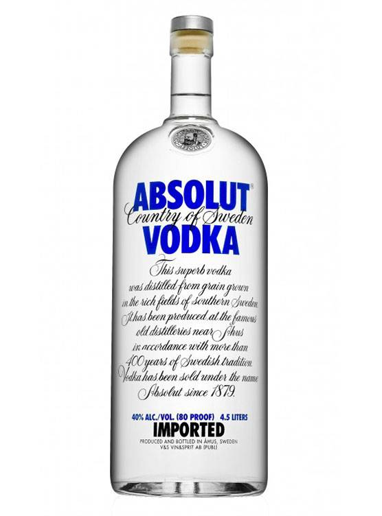 Absolut Absolut Vodka 4,5 Liter