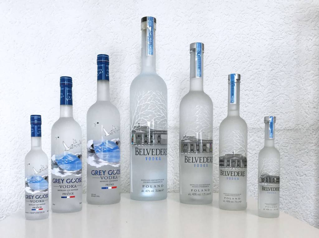 Grey Goose versus Belvedere Vodka