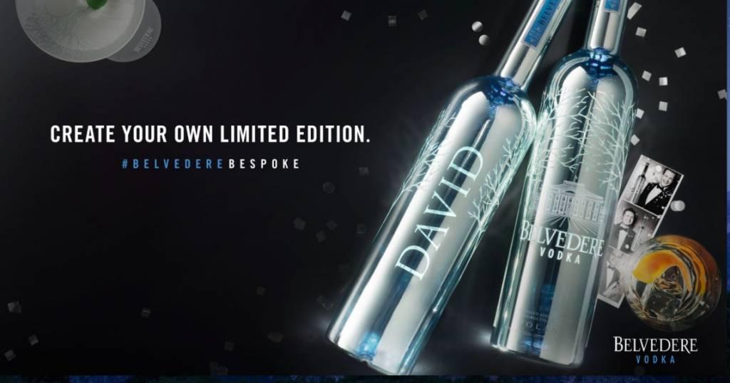 Bestel een gepersonaliseerde Belvedère Vodka fles!