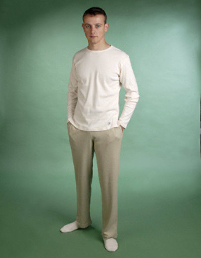 Wide trousers with pockets for man.
