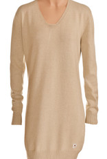 Long sweater women v-neck and long sleeves.