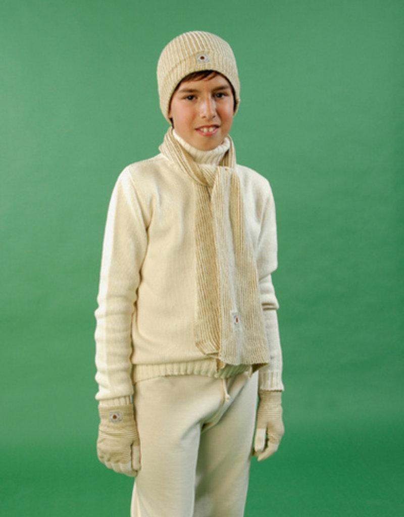 Jersey junior tricotosa con cuello cisne. Tallas 2, 4, 6 años.