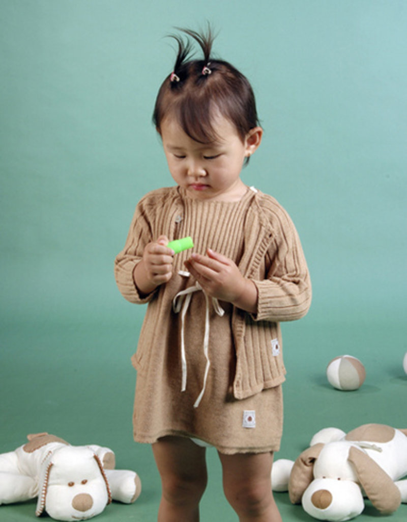 Baby long-sleeved jacket with buttons in front. sizes 1, 3, 6 months.