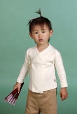 Camiseta bebé cruzada manga larga. Tallas 12, 18, 24 meses.