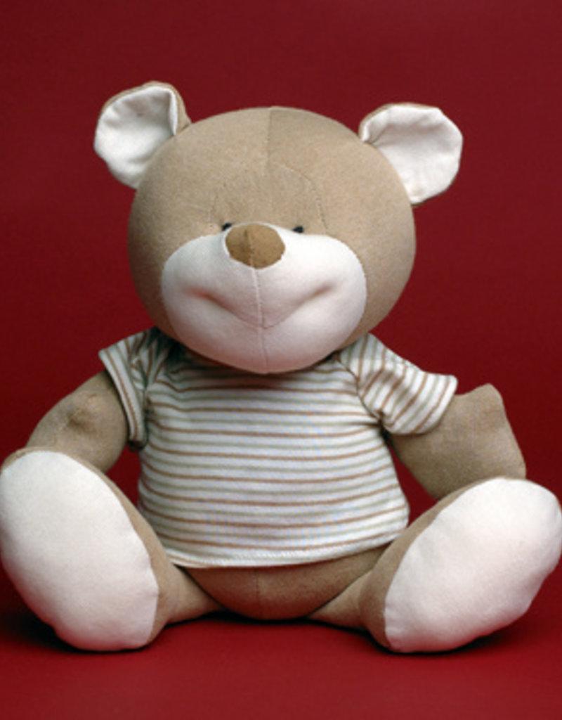 Teddy bear with shirt.