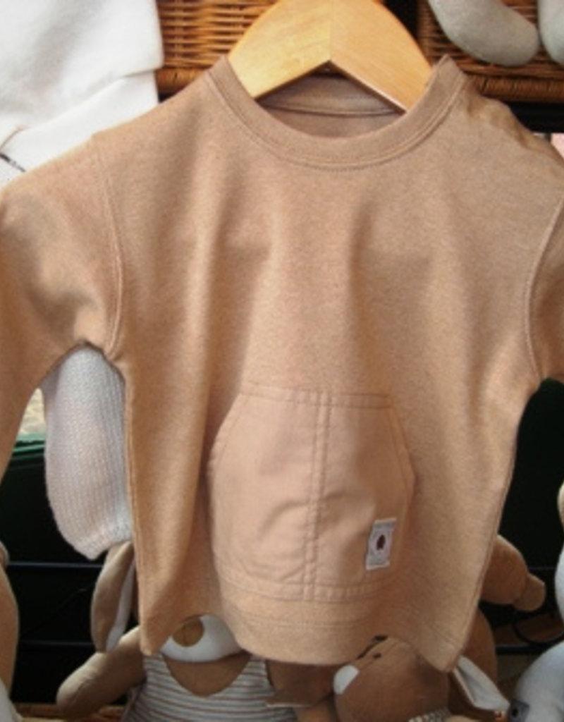 Camiseta bebé con bolsillo. Tallas 1, 3, 6 meses.