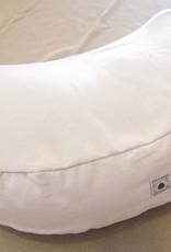 Zafu cushion with half moon shape