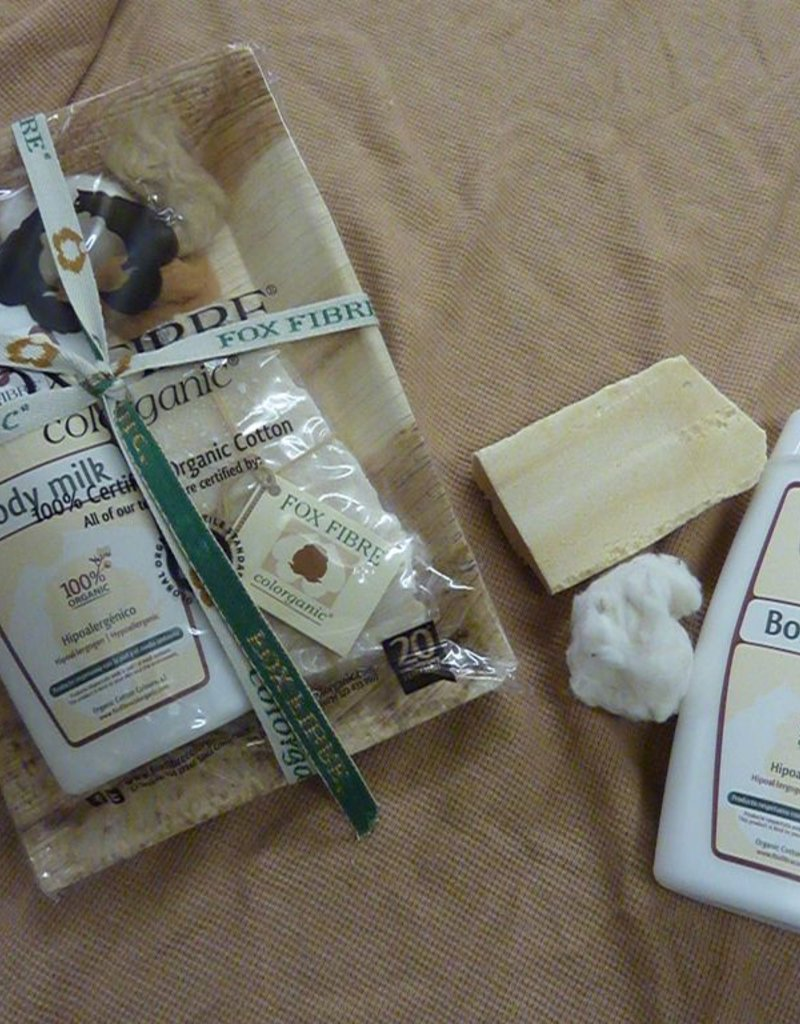 Pack with body milk and soap 100gr.