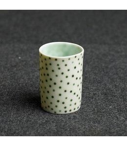 Kaolin Espresso Becher White Green wild Dots