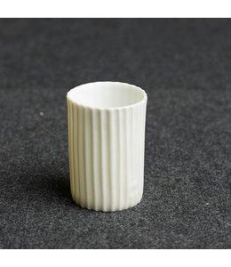 Kaolin Espresso Becher White gestreift