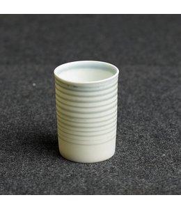 Kaolin Espresso Becher White Grey horizontal gestreift