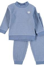 Feetje Pyjama wafel Bleu Melange