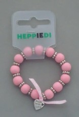 Heppiedi Armbandje Roze met Hartjes