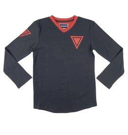 Legends 22 T-Shirt Triangle dark grey - red