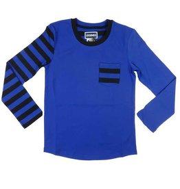 Legends 22 Striped sleeve T-shirt bright blue - black