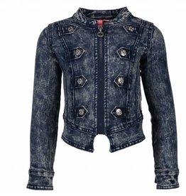 B. Nosy Denim Militair Jacket with zipper + buttons