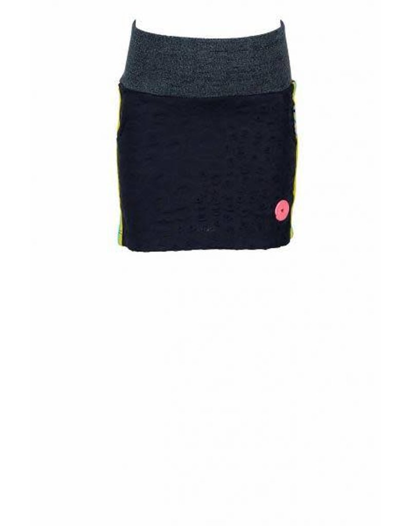 B. Nosy Short Skirt with knitted tape on side