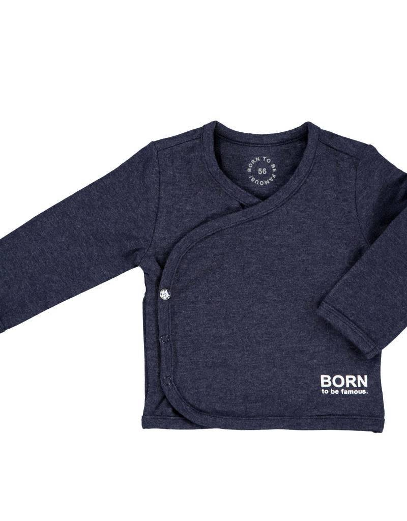 Born to be famous NB Baby Shirt - Navy