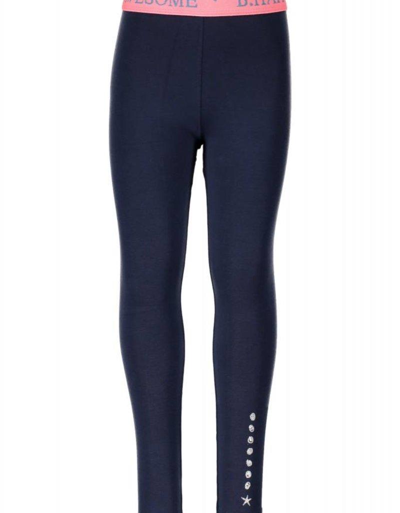 B. Nosy girls legging with fancy elastic, no side seam Blueberry