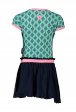 B. Nosy girls dress with jersey pleated skirt part + elastic & sequinces artwork on front Sea