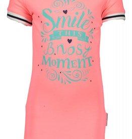 B. Nosy girls dress shirt with flatknit stripe hem/sleeve end Tutti frutti