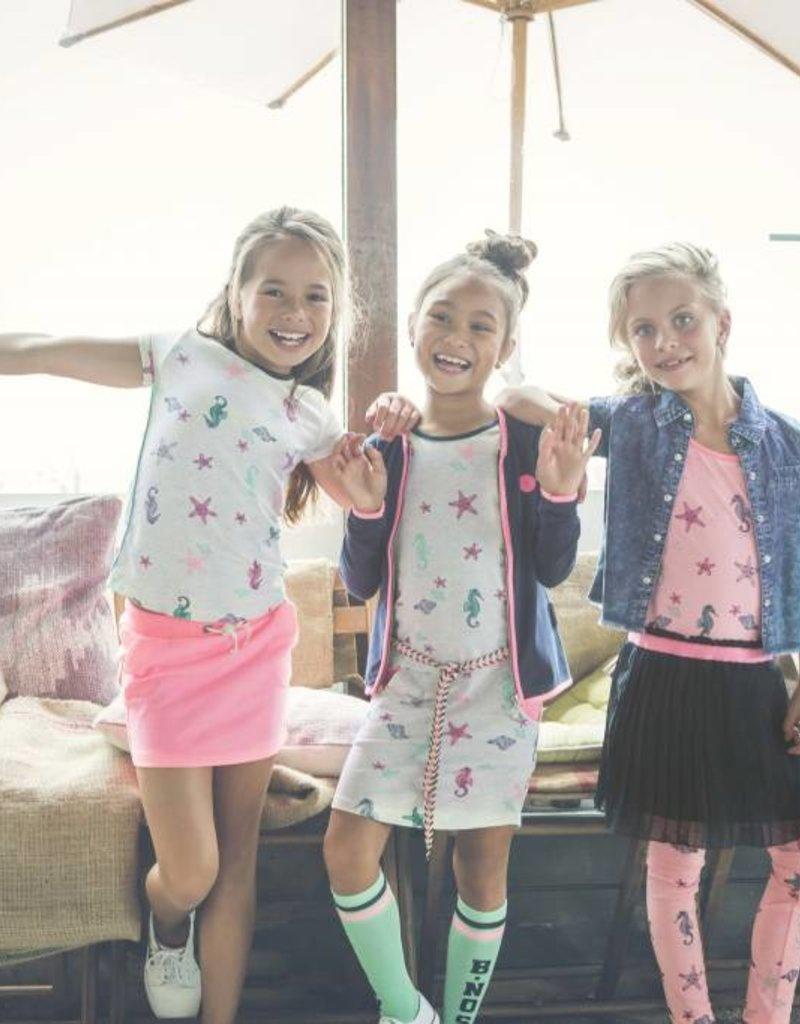 B. Nosy girls sleeveless dress with plisee skirt part Bunny pink melee