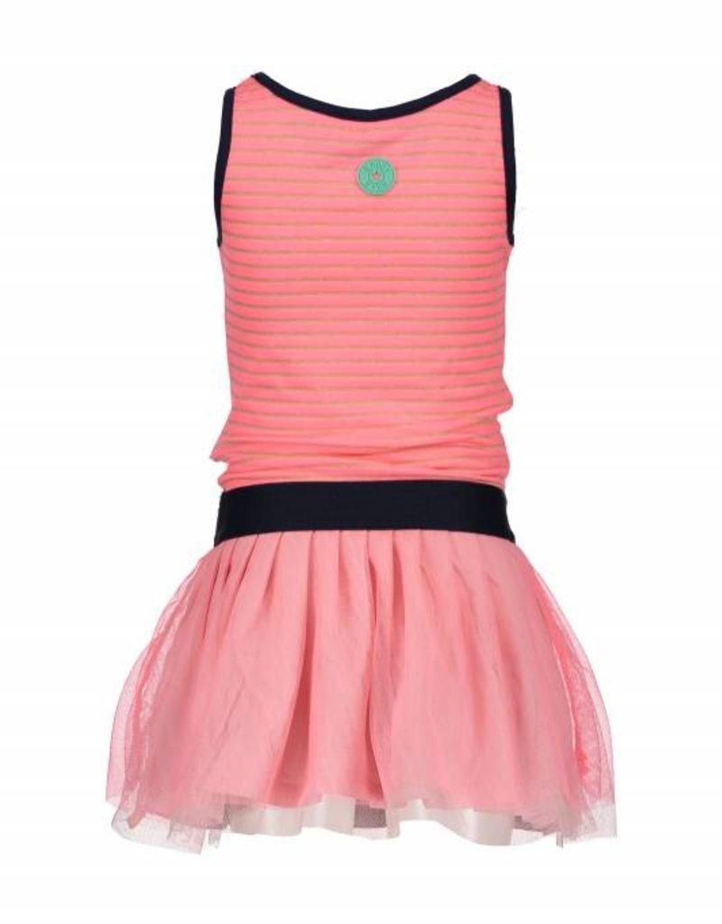 B. Nosy girls sleeveless dress with elastic, double layer netting skirt part Tutti frutti
