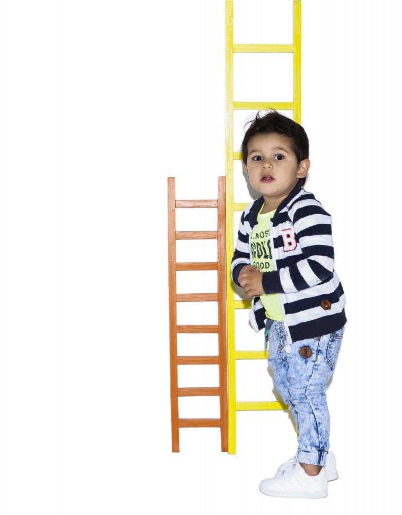 B. Nosy 2. Baby boys sweat cardigan big stripe Blueberry