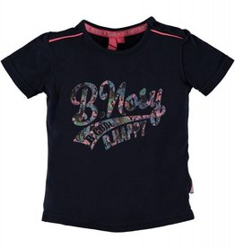 B. Nosy baby girls ss shirt with chest artwork Blueberry