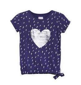 Little miss juliette T-shirt heart - BLU
