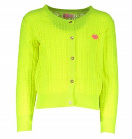 Kidz Art Cardigan Neon Yellow