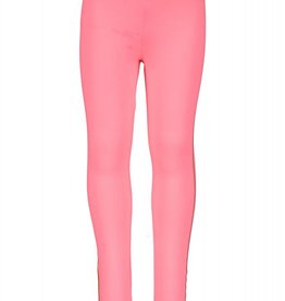 Kidz Art Legging Long fancy elasticiteit waist with printen stripes Neon Red