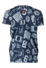 B. Nosy boys AOP shirt with indigo washing Skater blue