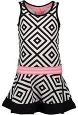 B. Nosy girls sleeveless dress with elastic in waist, plain stroke skirt part in hem   Apple