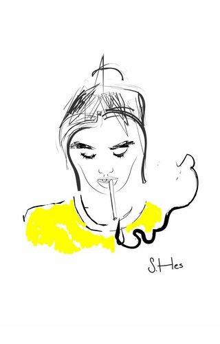 Sanne Nadine Hes Smoking