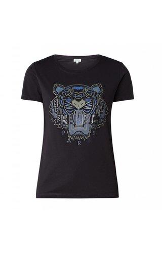 Kenzo Tiger T-Shirt With Logoprint