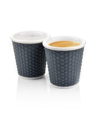 Les Artistes Les Artistes Espresso Cups 10cl Grijs [2 stuks]