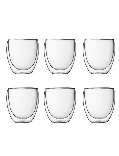 Bodum Bodum dubbelwandige glazen Pavina 0.25 [6 stuks]