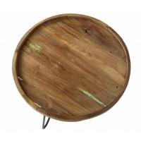 Salontafel 3 poot  60 cm teak