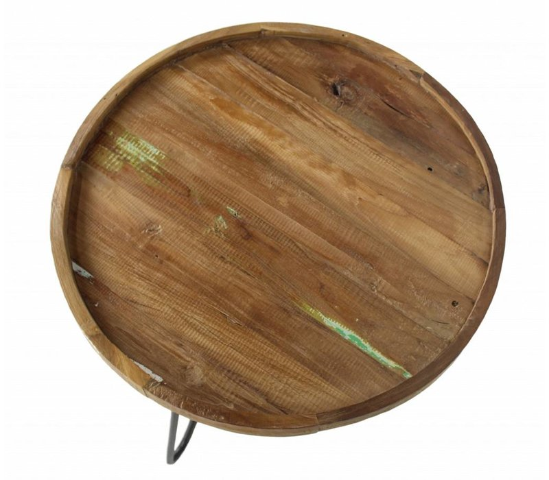 Salontafel met 3 poot  60 cm teak