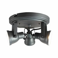 Plafond lamp Spot Max 3-lichts (incl 3x led) burned steel