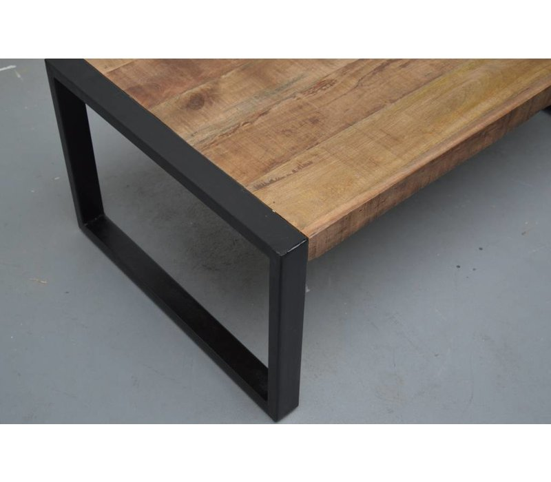 Salontafel-Strong-60cm mangohout metaal