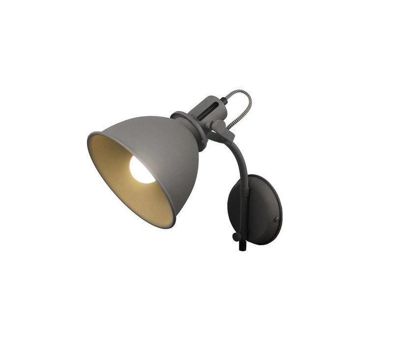 Wandlamp Spot mat grijs
