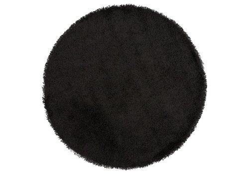 Kokoon design Vloerkleed COZY RONDO 160cm  zwart