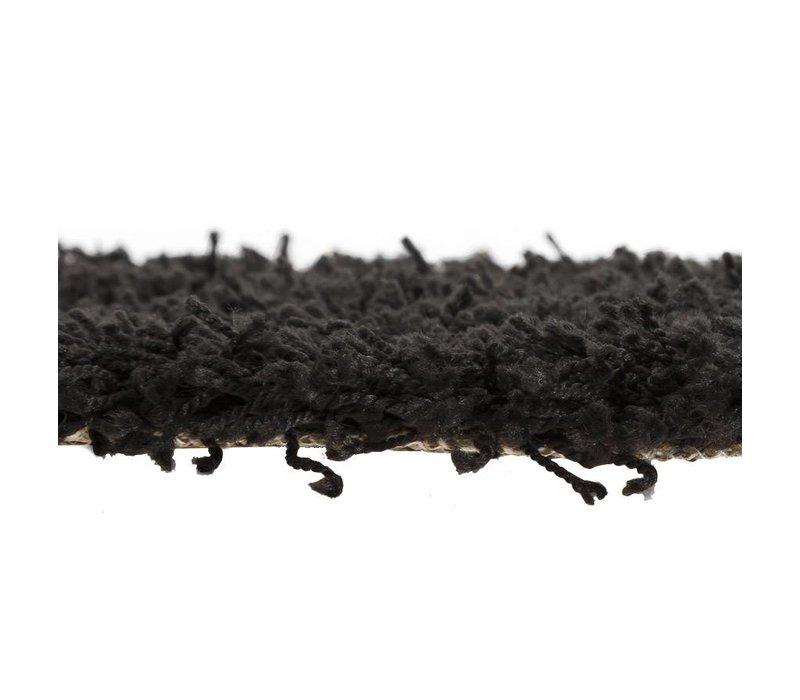 Vloerkleed COZY RONDO 160cm  zwart